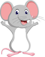 illustration of Cute mouse cartoon