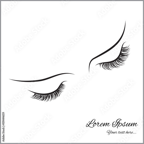 Quot Closed Eyes With Long Eyelashes Sample Logo For A Beauty