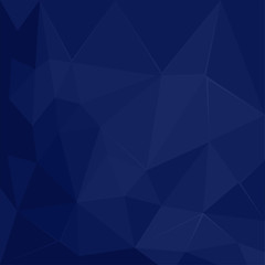 Abstract polygonal geometric facet Dark Blue vector background wallpaper illustration