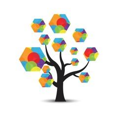 vector logo tree abstract
