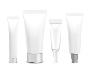Set of lastic packaging of cream