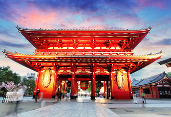 Photo sur Aluminium Edifice religieux Tokyo - Japan, Asakusa Temple