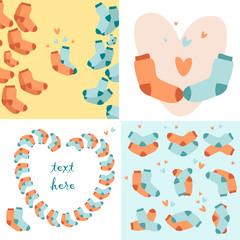 socks funny love story pattern