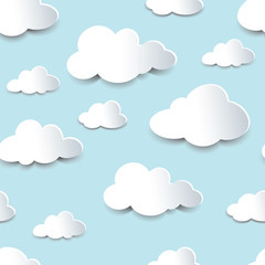 Seamless cutout clouds