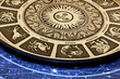 plate with astrology signs on it