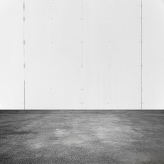 Empty square abstract white interior background