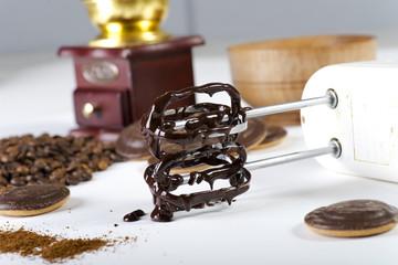 Aluminium Prints Bicycle mixer in chocolate