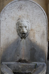 Garda Lake, Malcesine. Lion Fountain