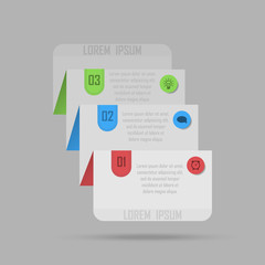 Modern Design template / can be used for info-graphics / numbered banners / graphic or website layout vector