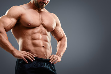 Strained chest and abs.