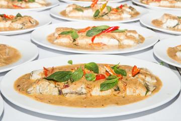 Thai food is name chu chi pla,
