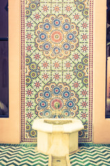 Water fountain with morocco style