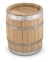 Oak wooden barrel