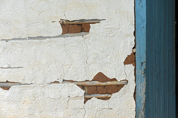 Old technique of wall construction