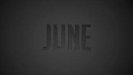 June metallic text for calendar background