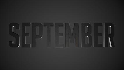 September metallic text for calendar background