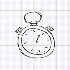 Simple doodle of a stopwatch