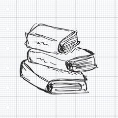 Simple doodle of a book