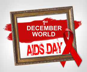 1st december world AIDS DAY, World Aids Day concept with red ribbon