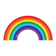 Rainbow vector icon