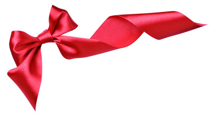 Red decorative bow
