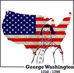 Silhouette George Washington