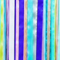 colorful awareness ribbons over on background