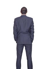 businessman rear view