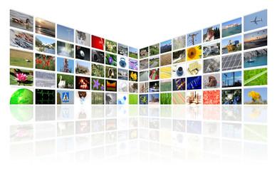 tv news multimedia background
