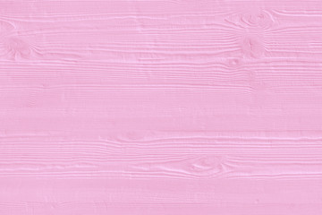 Natural wooden pink boards, wall or fence with knots. Abstract textured rozy background, empty template