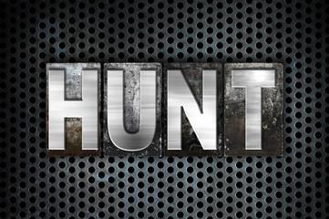 Hunt Concept Metal Letterpress Type