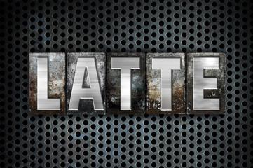 Latte Concept Metal Letterpress Type