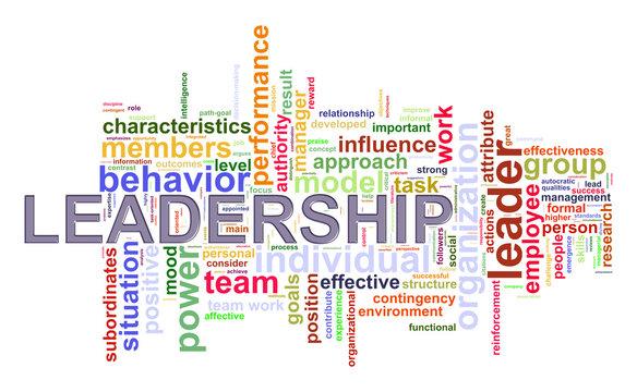 Word tags leadership wordcloud