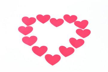 pink hearts symbol