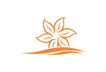 Lotus silhouette icon logo