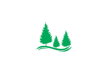 Green Pine Icon Inspiration logo