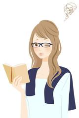 読書中の女性 不満