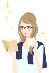 読書中の女性 感動