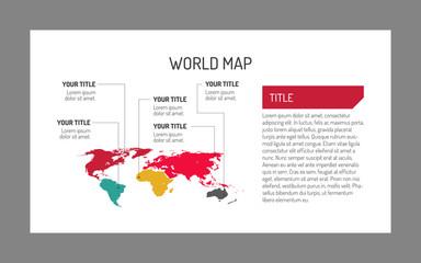 World map template 4