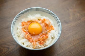キムチの卵掛けご飯