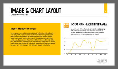 Image and line chart layout template