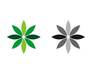 green petal flower