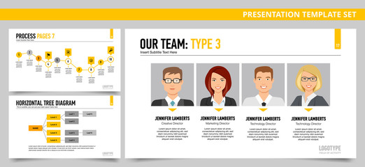 Presentation template set 22