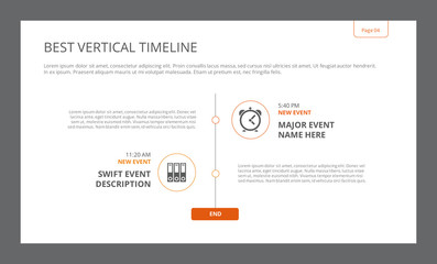 Vertical Timeline Infographic Template