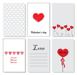 Collection of romantic and love cards
