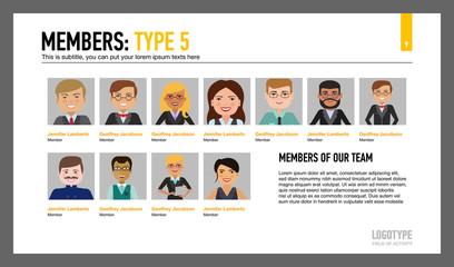 Members of our team slide template