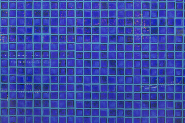 An image of tiles floor background and blue tile wall high resolution real photo