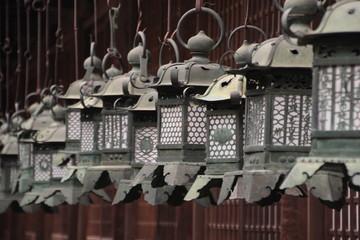 Lantern in a shrine in Nara