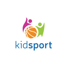 Kid Fun Sport Vector Logo