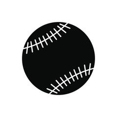 Baseball black simple icon